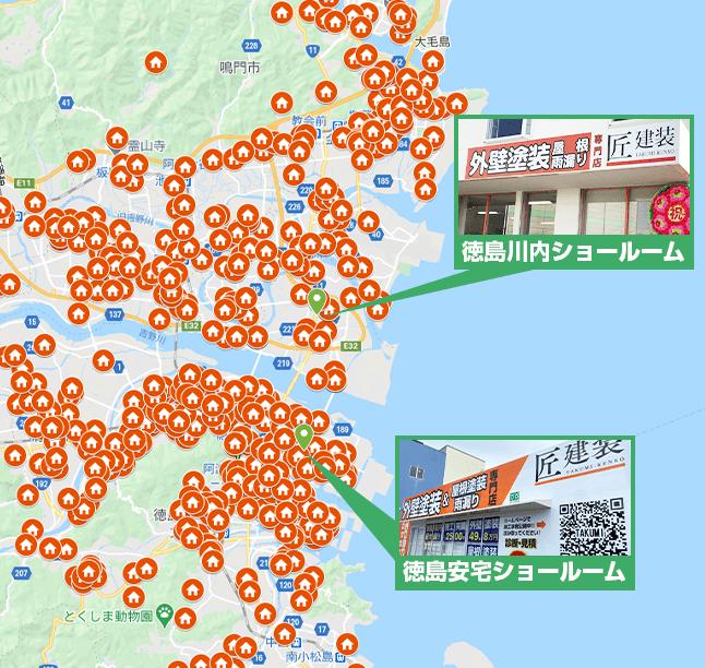 徳島県エリア地図