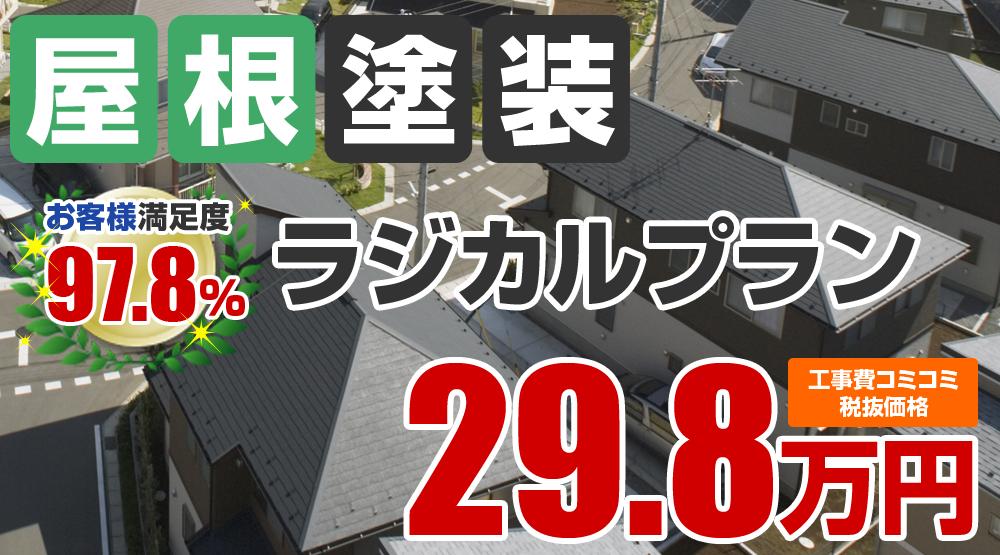 ラジカルプラン塗装 29.8万円
