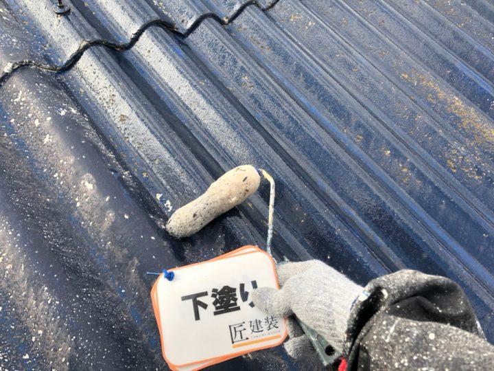 (納屋)屋根下塗り