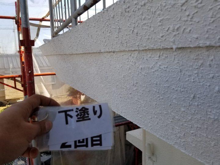 (主屋)外壁下塗り
