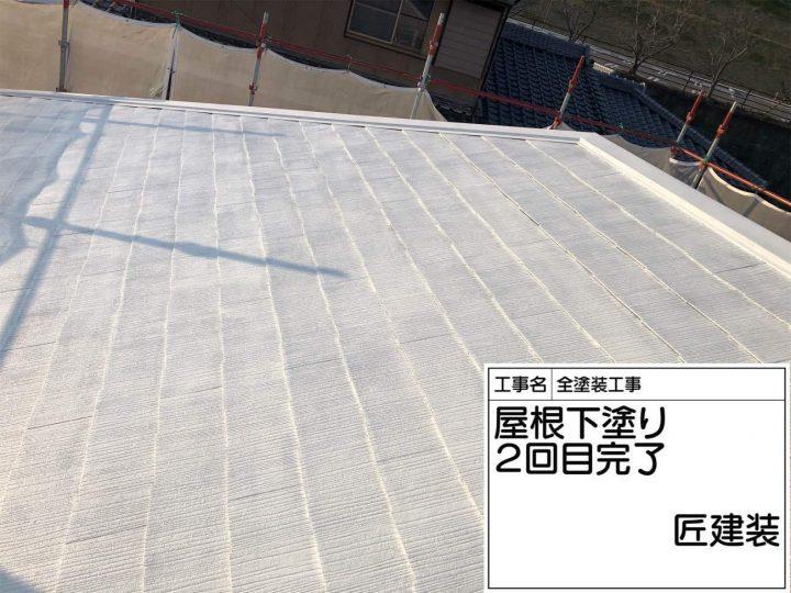 屋根 下塗り2回目完了