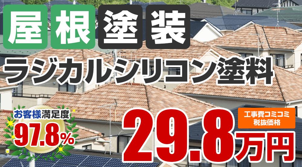 ラジカルシリコン塗料塗装 29.8万円