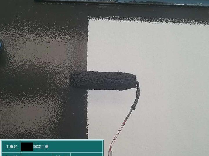 玄関扉中塗り
