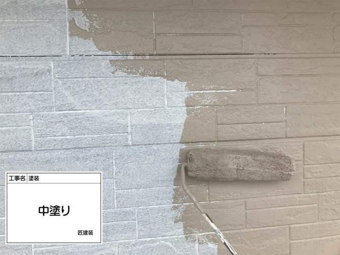 外壁中塗り(2F)